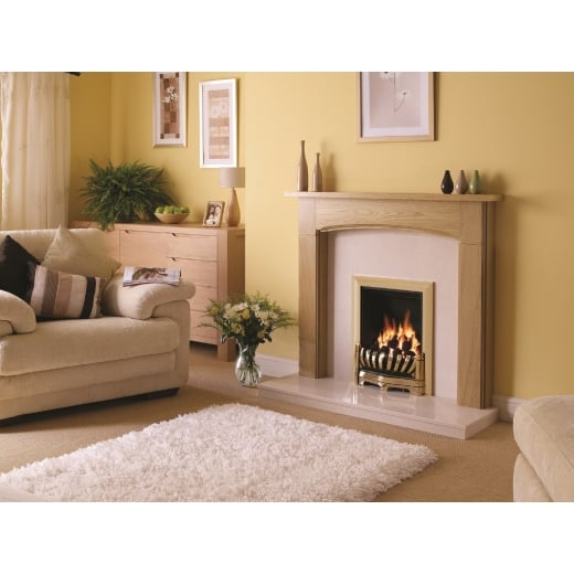 "bemodern 1170mm (46"") Logan  Timber surround"