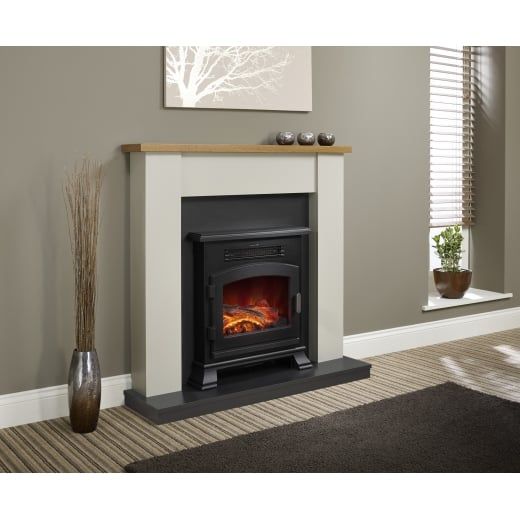 bemodern Ravensdale (With Country Oak Top)  Electric LED Fireplace