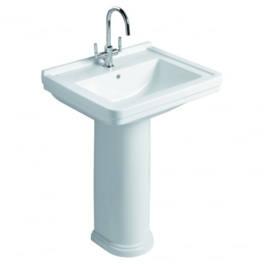 Aristo  Washbasin and pedestal 1TH (pre-punched for 3TH)