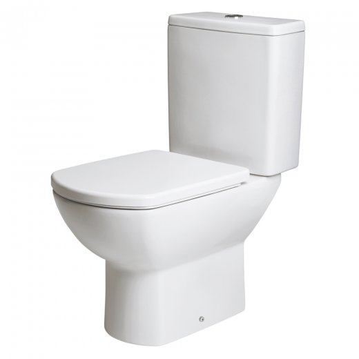 Astuto WC Pan and cistern with soft close seat