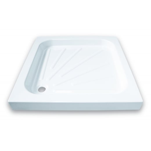 Square Resin Shower Tray inc fitting kit