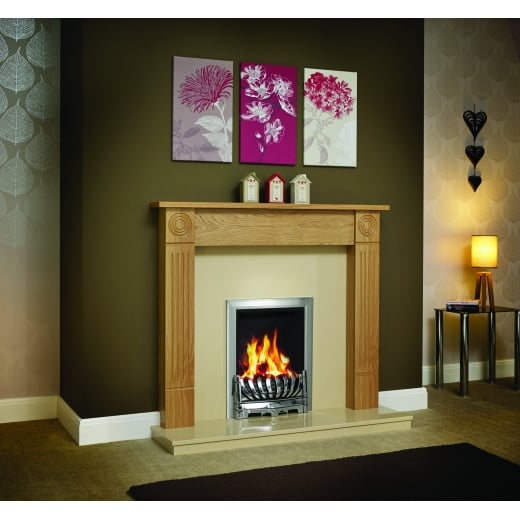 Standard Lipped Hearth and Back Panel  Set in Marfil